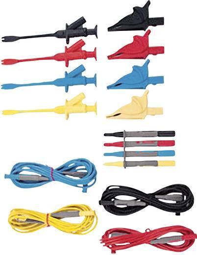 Sicherheits-Messleitungs-Set [ Lamellenstecker 4 mm - Lamellenstecker 4 mm] 3 m Schwarz, Rot, Blau, Gelb Extech PQ1000