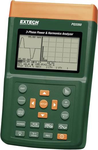 Extech PQ3350 Leistungs- und Oberwellenanalyser, Netz-Analysegerät, Für 1 - 3 Phasen-Netze, CAT III 600 V