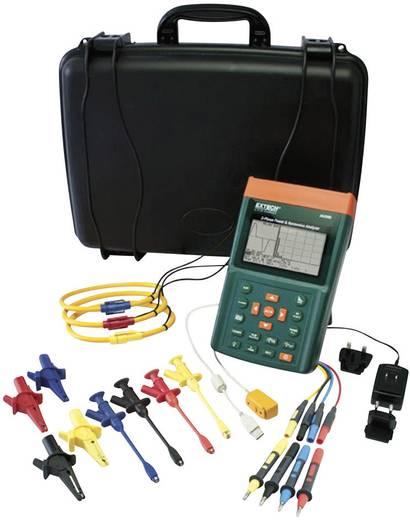 Extech PQ3350-1 Leistungs- und Oberwellenanalyser, Netz-Analysegerät, Für 1 - 3 Phasen-Netze, CAT III 600 V inkl. 3 Flex-Stromzangen bis 1200 A