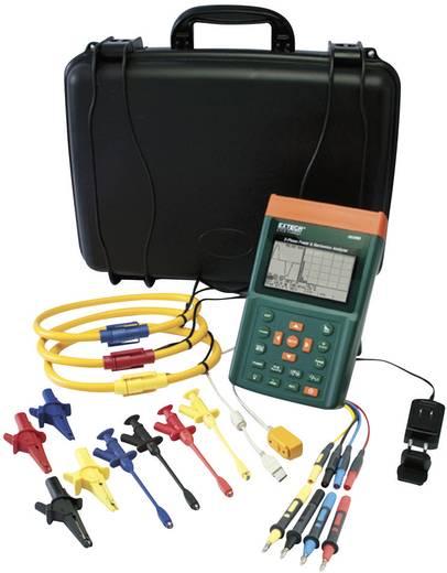 Extech PQ3350-3 Leistungs- und Oberwellenanalyser, Netz-Analysegerät, Für 1 - 3 Phasen-Netze, CAT III 600 V inkl. 3 Flex-Stromzangen bis 3000 A