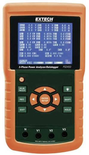 Extech PQ3450 Leistungs-Analysegerät, Netzanalysator, Für 1 - 3 Phasen-Netze, CAT III 600 V