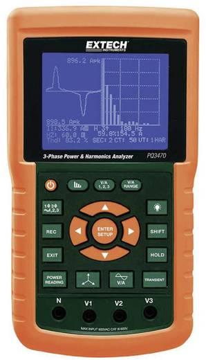 Extech PQ3470 Leistungs- und Oberwellenanalyser, Netz-Analysegerät, Für 1 - 3 Phasen-Netze, CAT III 600 V
