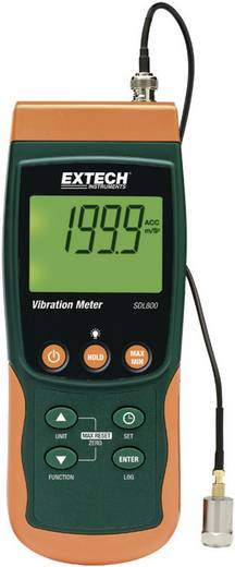 Extech SDL800 Schwingungsmessgerät mit integriertem Datenlogger, Vibrations-Messgerät, ±5 %, Messbereich Beschleunigung