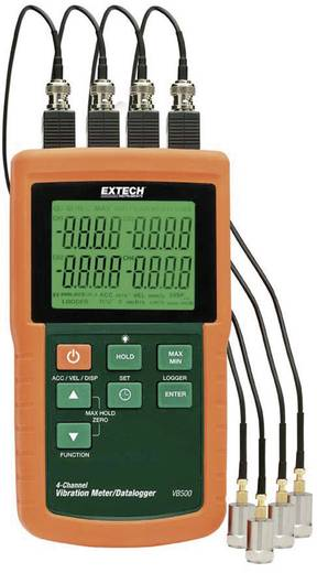 Extech VB500 4-Kanal Vibrationsmessgerät mit Datenlogger, Geschwindigkeitsmessgerät, Schwingungsmessgerät, ±5 % Messbere