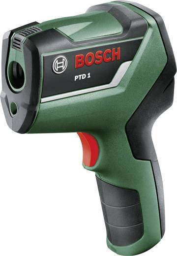 Bosch Home and Garden PTD1 Infrarot-Thermometer Optik 10:1 -20 bis +200 °C Pyrometer, Taupunktscanner Kalibriert nach: W