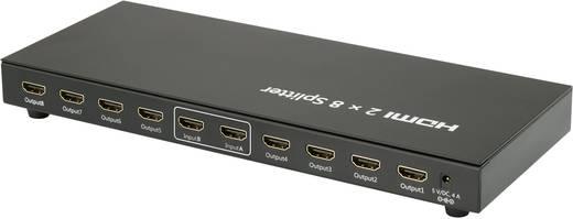 8 Port HDMI-Matrix-Splitter SpeaKa Professional 1040390 3D-Wiedergabe möglich 1920 x 1080 Pixel Schwarz