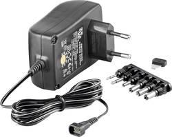 Síťový adaptér Goobay 67952, 3 V/DC, 4,5 V/DC, 5 V/DC, 6 V/DC, 7,5 V/DC, 9 V/DC, 12 V/DC 1500 mA