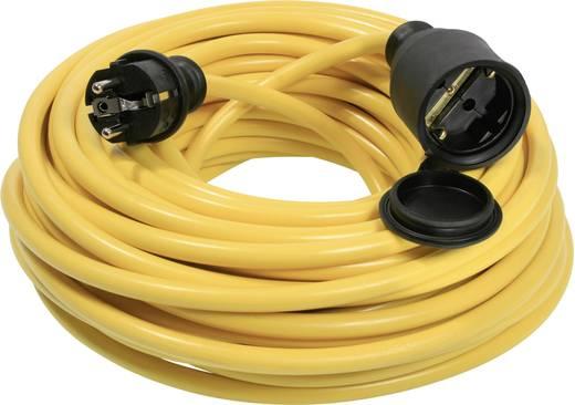 Strom Verlängerungskabel [ Schutzkontakt-Stecker - Schutzkontakt-Kupplung] Gelb 25 m as - Schwabe 60355