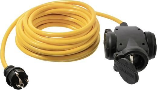 Strom Verlängerungskabel [ Schutzkontakt-Stecker - Schutzkontakt-Kupplung, Hänge-Kupplung] Gelb 10 m as - Schwabe 614