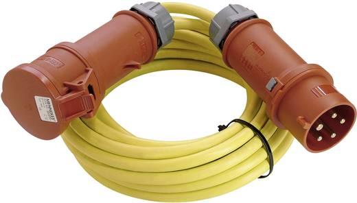 Strom Verlängerungskabel [ CEE-Stecker - CEE-Kupplung] 32 A Gelb 10 m mit Phasenwender as - Schwabe 60708
