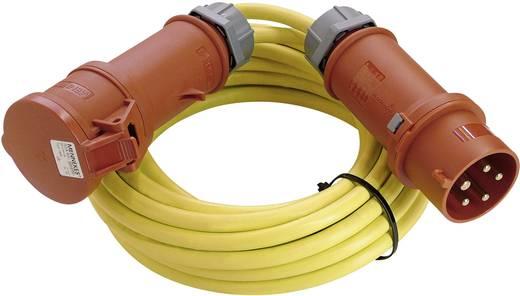 Strom Verlängerungskabel [ CEE-Stecker - CEE-Kupplung] 32 A Gelb 25 m mit Phasenwender as - Schwabe 60706