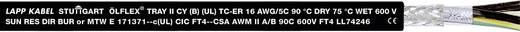 Steuerleitung ÖLFLEX® TRAY II CY 4 G 16 mm² Schwarz LappKabel 2206040 305 m