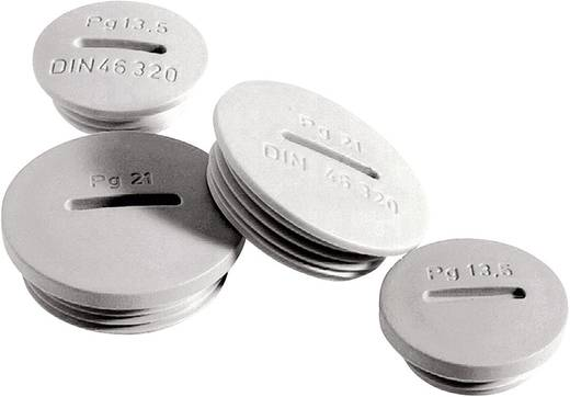 Verschlussschraube PG7 Polystyrol Licht-Grau (RAL 7035) LappKabel SKINDICHT BLK-GL PG7 RAL 7035 LGY 100 St.