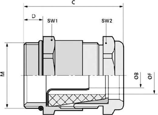 Kabelverschraubung M20 Messing Messing LappKabel SKINDICHT® SHVE-M 20X1,5/13,5/9/5 25 St.