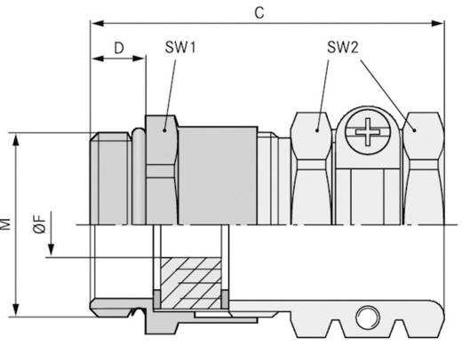 Kabelverschraubung M20 Messing Messing LappKabel SKINDICHT® SHZ-M-XL 20X1,5/11 25 St.