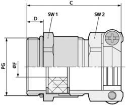 Kabelová průchodka LAPP SKINDICHT® SKZ PG 16 mosaz, délka závitu 6.5 mm, mosaz, 25 ks