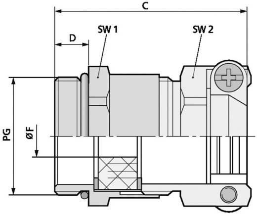 Kabelverschraubung PG11 Messing Messing LappKabel SKINDICHT® SKZ-XL PG 11 50 St.