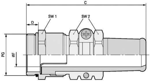 Kabelverschraubung PG13.5 Messing Messing LappKabel SKINDICHT® SRE PG 13,5/11/11/7 25 St.