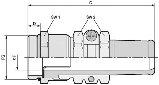 Kabelverschraubung PG36 Messing Messing LappKabel SKINDICHT® SRE PG 36/36/26/22 5 St.