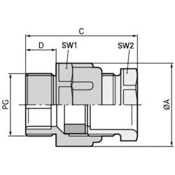 Kabelová průchodka LAPP SKINDICHT® SVFK PG 48 52005720 polystyren (EPS), délka závitu 15 mm, šedobílá (RAL 7035), 5 ks