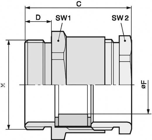 Kabelverschraubung M40 Polyamid Licht-Grau (RAL 7035) LappKabel SKINDICHT® SVFK-M 40/29 25 St.