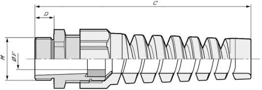 Kabelverschraubung mit Biegeschutzspirale M25 Polyamid Silber-Grau (RAL 7001) LappKabel SKINTOP BS ISO M 25X1,5 RAL 700
