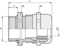 Kabelová průchodka LAPP SKINTOP® COLD M 32X1,5, mosaz, délka závitu 9 mm, mosaz, 25 ks