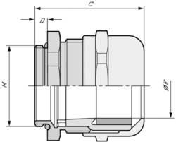 Kabelová průchodka LAPP SKINTOP® MS-IS-M 25X1,5 53112780 mosaz, délka závitu 5 mm, mosaz, 25 ks
