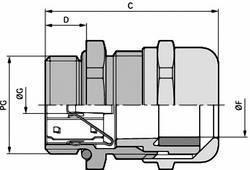 Kabelová průchodka LAPP SKINTOP® MS-SC-XL PG 16 mosaz, délka závitu 12 mm, mosaz, 25 ks