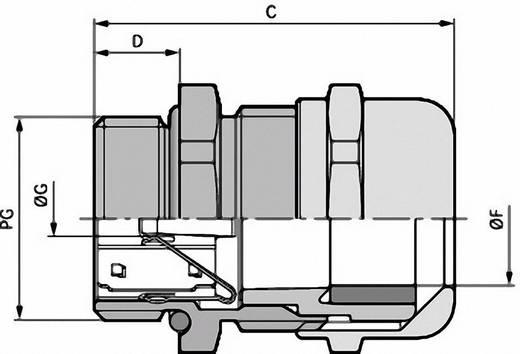Kabelverschraubung PG16 Messing Messing LappKabel SKINTOP® MS-SC-XL PG 16 25 St.
