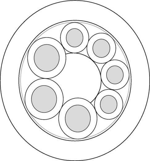 Sensorleitung UNITRONIC® SENSOR 3 x 0.75 mm² + 4 x 0.34 mm² Schwarz LappKabel 7038880 100 m