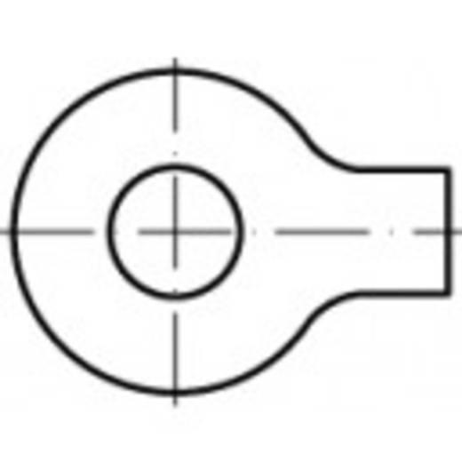 Unterlegscheiben mit Lappen Innen-Durchmesser: 6.4 mm DIN 93 Stahl galvanisch verzinkt 100 St. TOOLCRAFT 104585