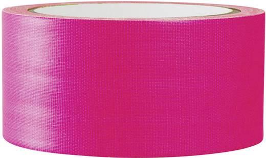 Gewebeklebeband TOOLCRAFT 80FL5025PC Neon-Pink (L x B) 25 m x 50 mm Hotmeltkleber Inhalt: 1 Rolle(n)
