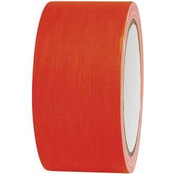 Javisková lepiaca páska TOOLCRAFT 80FL5025OC, 25 mx 50 mm, neónovo oranžová