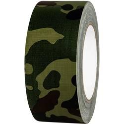 Javisková lepiaca páska TOOLCRAFT 80B50L25CC, 25 mx 50 mm, maskáčová