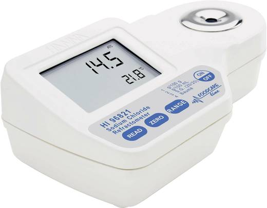 Hanna Instruments HI 96821 Digital-Refraktometer HI 96821 0,1 g/100g; 0,1 g/100 ml; 0,1 °Baumé; 0,001 spez. Dichte; 0,1