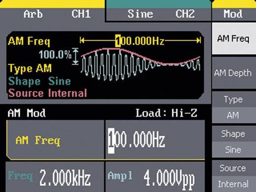Teledyne LeCroy WaveStation 2022 1 µHz - 25 Mhz Sinus, Rechteck, Dreieck/Rampe, Puls, Rauschen, Arbiträr