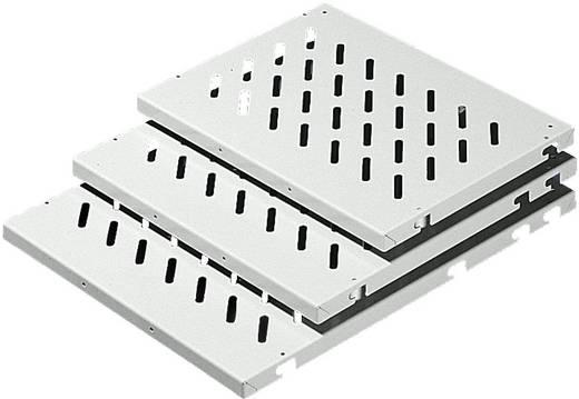 Bodenblech gelocht (L x B) 600 mm x 600 mm Stahlblech Grau (RAL 7035) Rittal DK 7166.035 1 St.