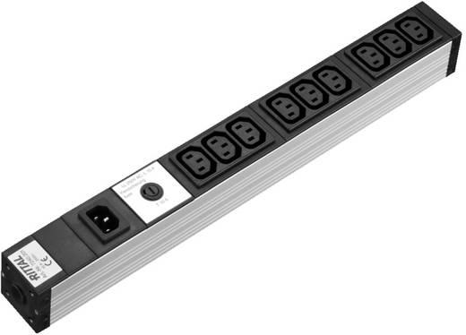 Steckdosenleiste 9-fach, mit Kaltgerätebuchse Aluminium Rittal DK 7240.201 1 St.