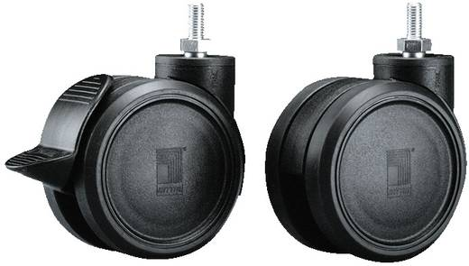 Doppel-Lenkrollen Kunststoff Schwarz Rittal DK 7495.000 4 St.