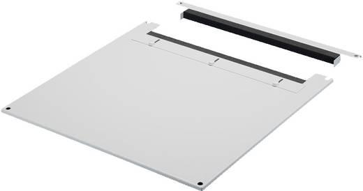 Dachblech mit Kabeleinführung (L x B) 1000 mm x 600 mm Stahlblech Licht-Grau (RAL 7035) Rittal TS 7826.605 1 St.