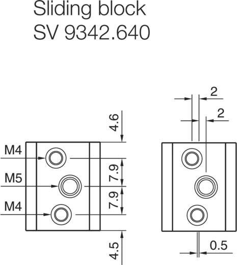 Nutenstein Polyamid Grau (RAL 7035) Rittal SV 9342.640 6 St.
