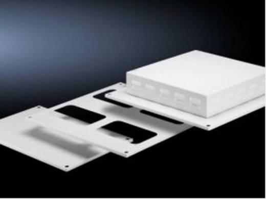 Dachblech geschlossen (L x B) 600 mm x 600 mm Stahlblech Licht-Grau (RAL 7035) Rittal SV 9671.666 1 St.