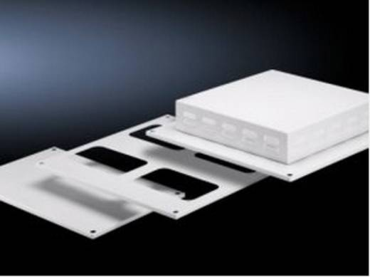Dachblech mit Kabeleinführung (L x B) 600 mm x 400 mm Stahlblech Licht-Grau (RAL 7035) Rittal SV 9671.546 1 St.