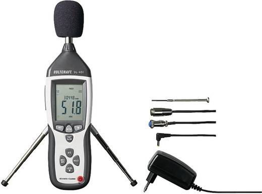 VOLTCRAFT Schallpegel-Messgerät SL-451 30 - 130 dB 31.5 Hz - 8 kHz Kalibriert nach Werksstandard (ohne Zertifikat)