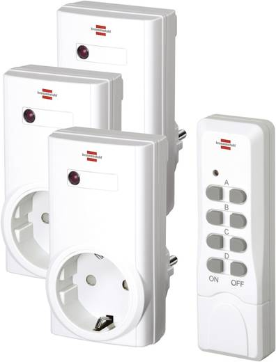 Brennenstuhl RCS 1000 N Comfort 1507450 Funk-Steckdosen-Set 4teilig Innenbereich 1000 W