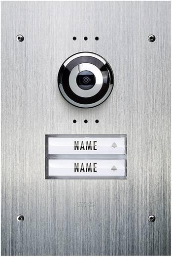 m-e modern-electronics VDV 920 Video-Türsprechanlage Kabelgebunden Außeneinheit 2 Familienhaus Edelstahl