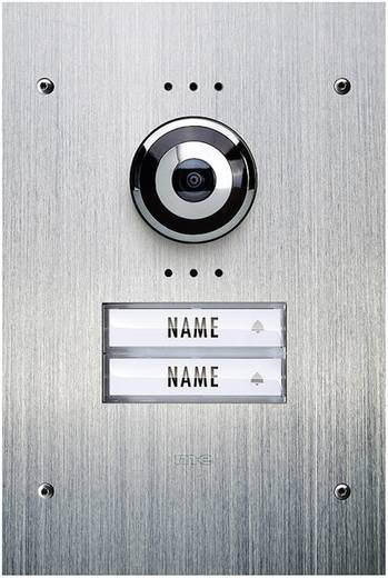 Video-Türsprechanlage Kabelgebunden Außeneinheit m-e modern-electronics VDV 920 2 Familienhaus Edelstahl