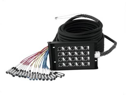 Multicore Kabel 30 m Omnitronic 30304630 Anzahl Eingänge:16 x Anzahl Ausgänge:4 x