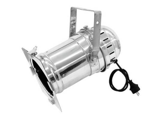 Halogen-PAR-Scheinwerfer Eurolite PAR-56 Long mit Stecker silber Silber